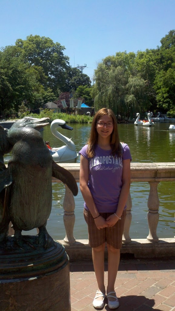 Jerica-posing-at-the-Swan-ride-the-zoo