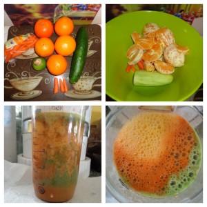 orange radiant juice collage