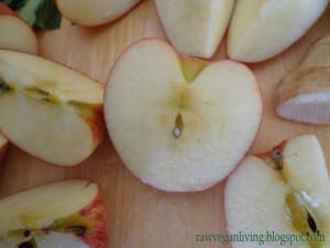 apple in a shape of a heart