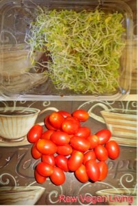 sprouts and tomatoes