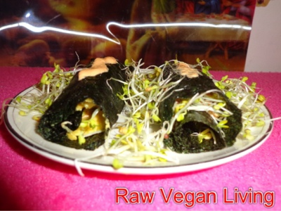nori sprouts and cheese