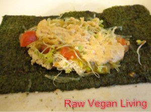 epic nori rolls with noodles and cheese