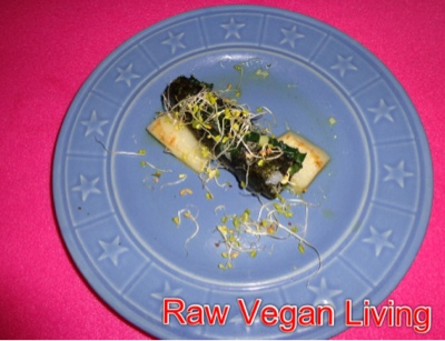 nori rolls with sprouts, cheese and noodles