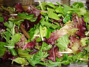 spring mix colorful salad