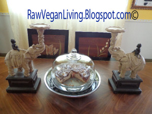 tofu dates swirl cheesecake with elephants