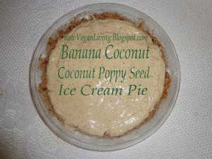 fresh coconut banana poppy seed pie