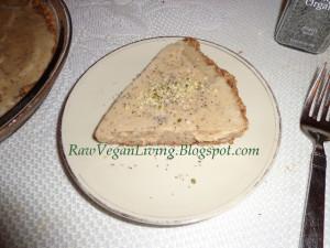 sliced banana coconut poppy seed pie