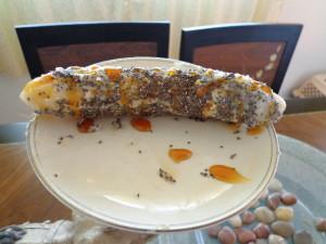 chia super food covered bananan