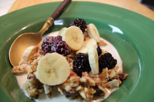 Muesli - Raw Morning Cereal with Almond Milk
