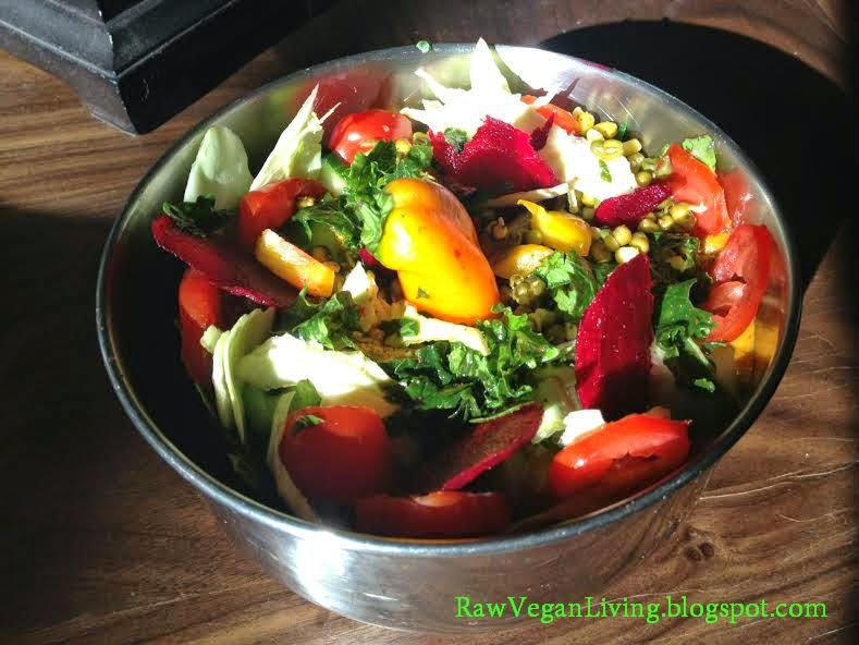 beautiful bowl of raw vegan chili