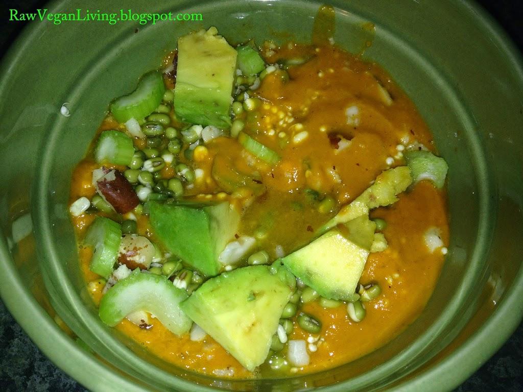 raw vegan chili bowl