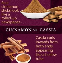 cassia cinnamon vs ceylon cinnamon