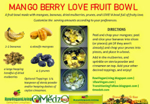 mango berry love fruit bwol recipe card