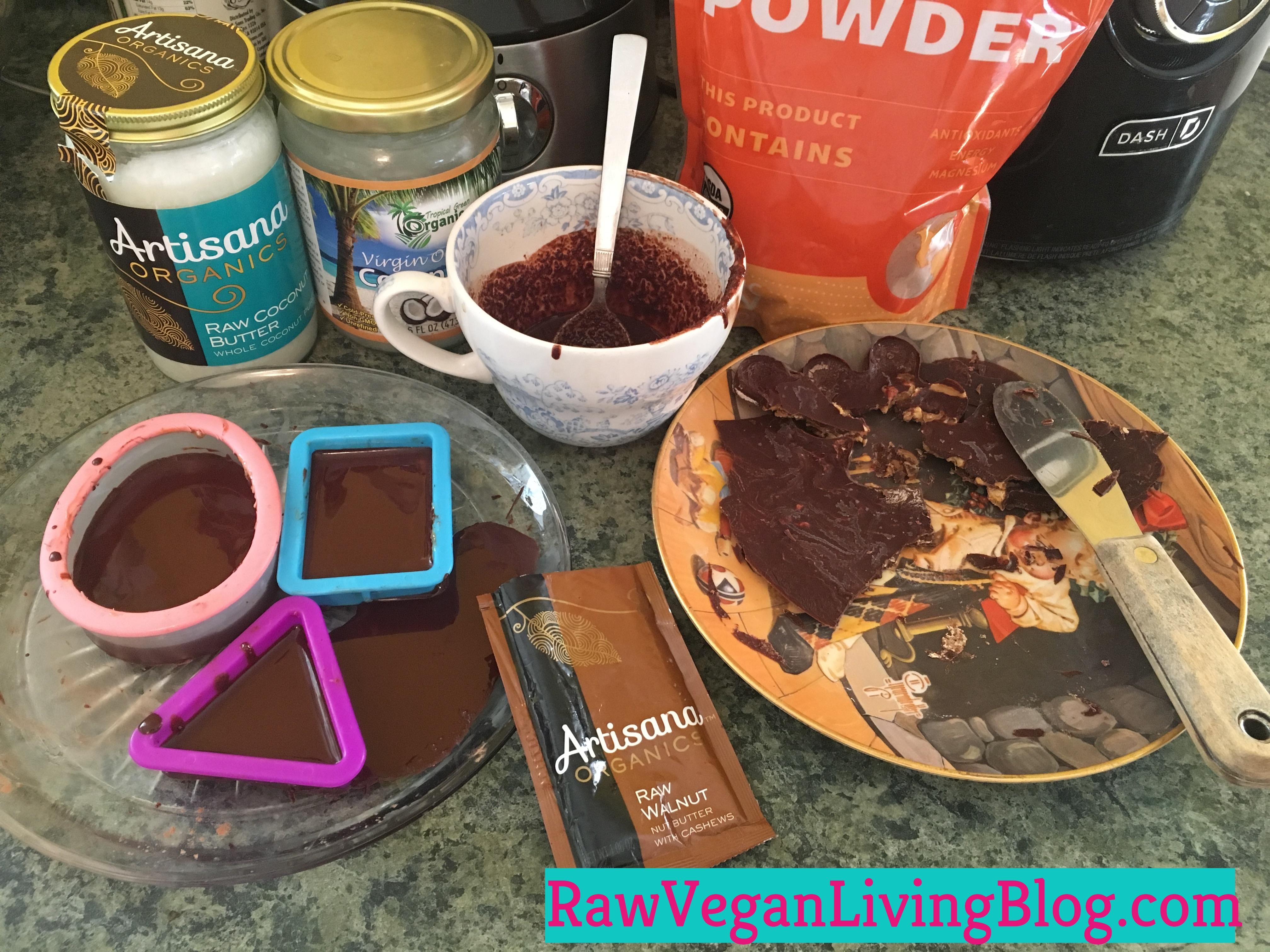 raw vegan homemade freezer chocolate