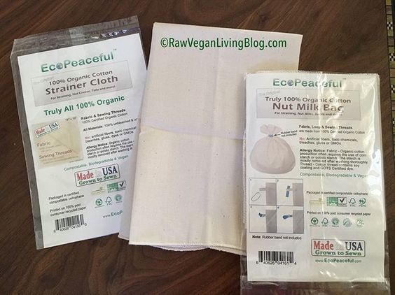 Eco Peaceful Nut Milk Bag and Cheesecloth
